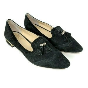 Vince Camuto Rizell Black Suede Tassle Loafers